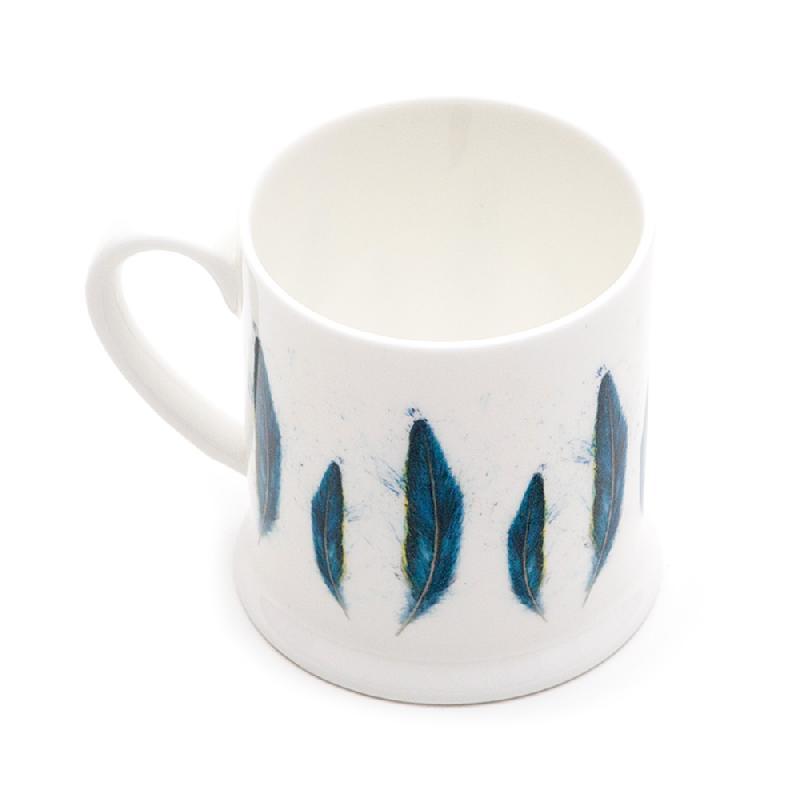 Blue Macaw Feather Mini Mug