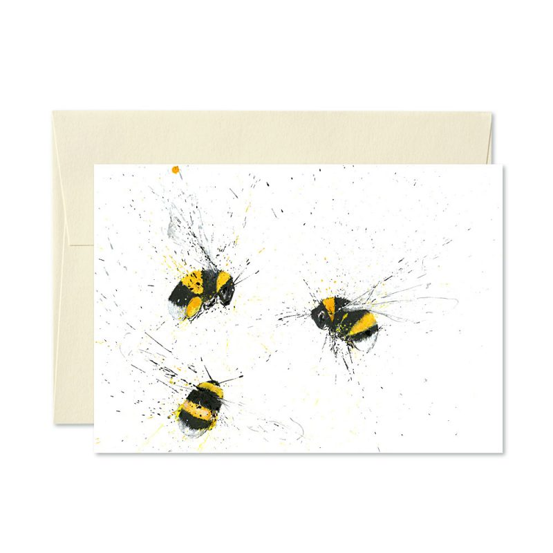 Bumble Bees Trio Greetings Card