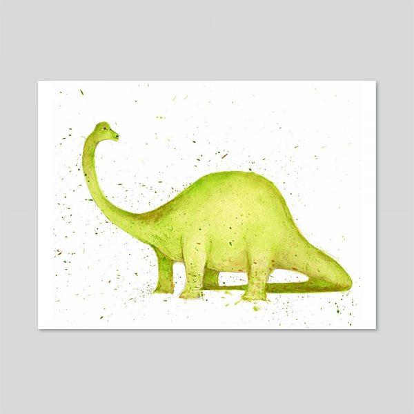 Dippy Dinosaur A4 Print