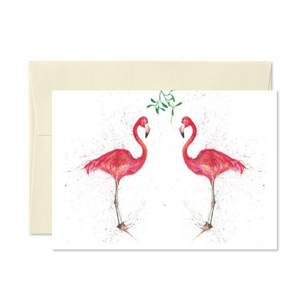 Flamingo Christmas Cards | Pack Of 5