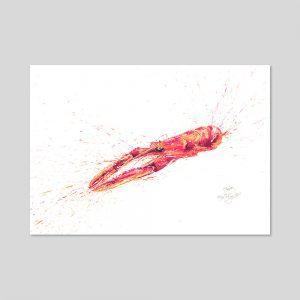 Langoustine Print A3
