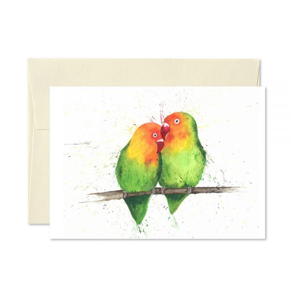 Love Birds Greetings Card