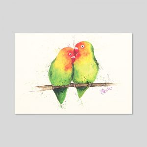 Love Birds Print A4