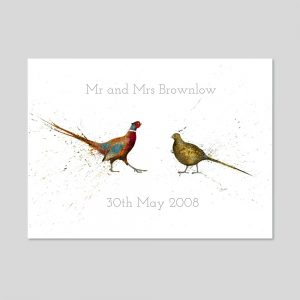 Mr And Mrs Personalised Limited Edition A3 Print