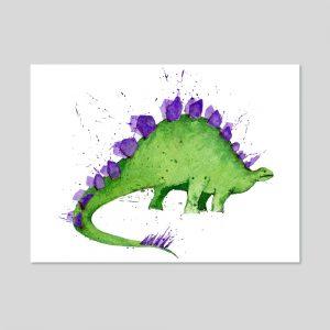 Steggy Dinosaur A4 Print