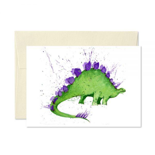 Steggy Dinosaur Greetings Card