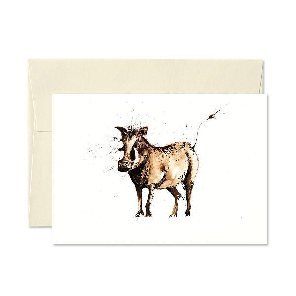 Warthog Greetings Card