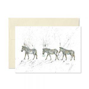 Zebra Christmas Cards | Pack Of 5