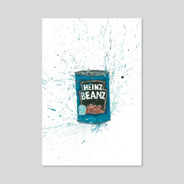 Baked Beans Limited Edition Print A4