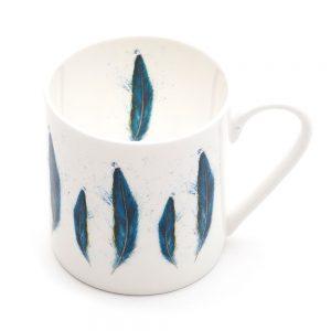 Blue Macaw Feather Mega Mug