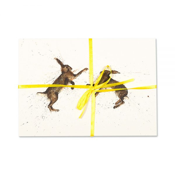 Boxing Hares Post Cards | Pack Of 10