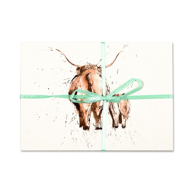 Highland Cow Pair Post Cards | Pack Of 10