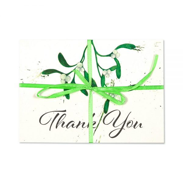 Mistletoe Thank You Post Cards | Pack Of 10