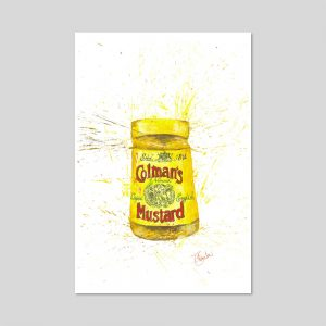 Mustard Limited Edition Print A4