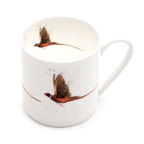 Pheasant Flying Mega Mug