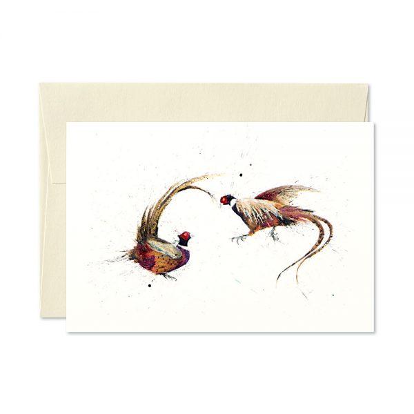 Pheasant Pair Greetings Card