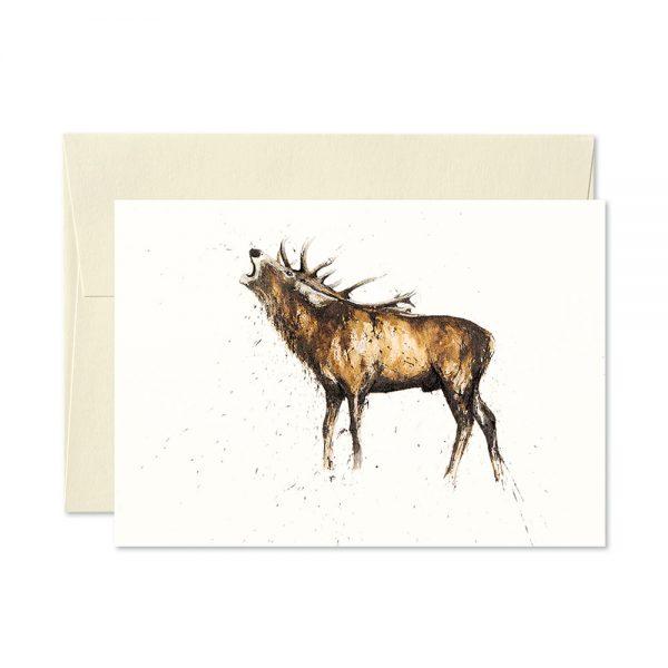 Stag Roaring Greetings Card