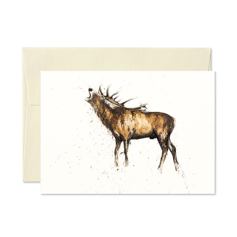 Stag Roaring Greetings Card