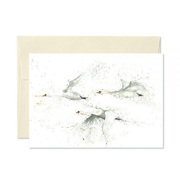 Swans Greetings Card