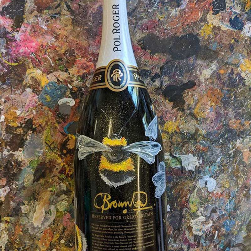 Bees Pol Roger Champagne Bottle