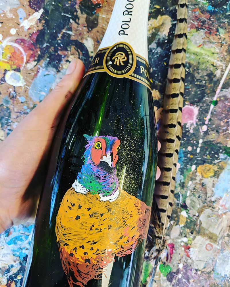 Pheasant Champagne Bottle