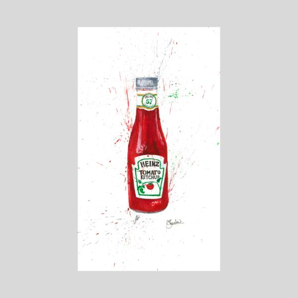 ketchup painting