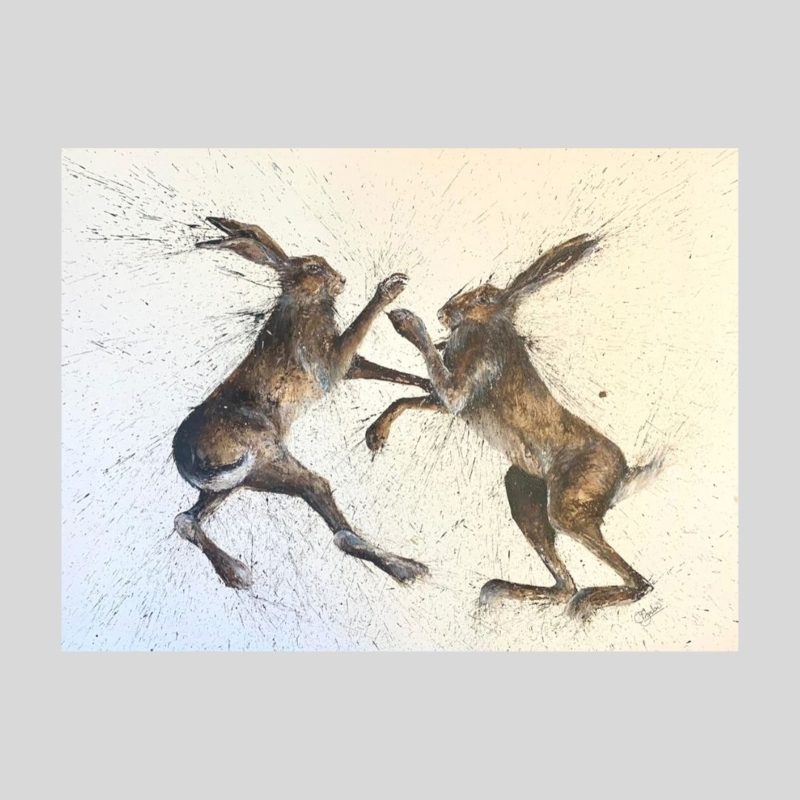 Boxing Hare Print